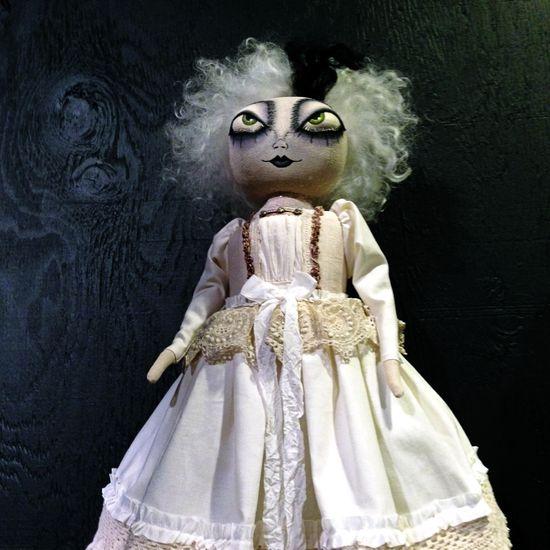 Beautiful handmade doll at Roger's Gardens in Corona del Mar, CA