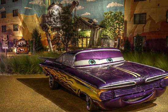 """The Coolest Car in Disney World! Ramone from the Disney Movie """"Cars"""" at the Art of Animation resort in Walt Disney World Florida!"""