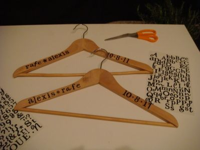 DIY Custom wedding hangers