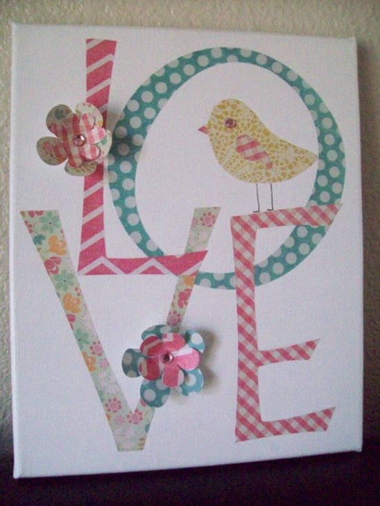 LOVE baby girl nursery wall art by therosyredelephant on Etsy, $16.00