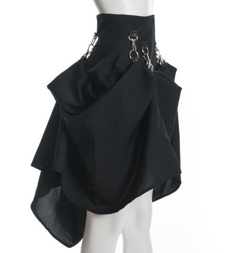 Black Custom Steam Punk Victorian Skirt I want one of these so bad