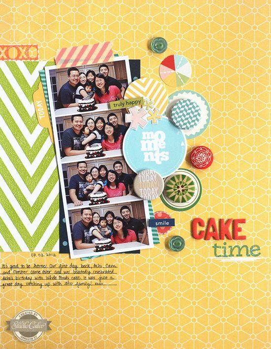 Cake Time {Studio Calico August Kit} - Scrapbook.com