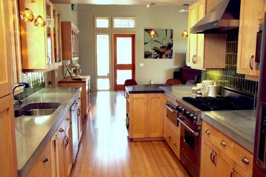 hallway kitchen design idea