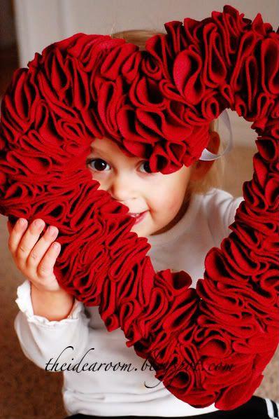 #valentine wreath.love this idea