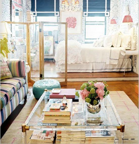feminine romantic studio apartment