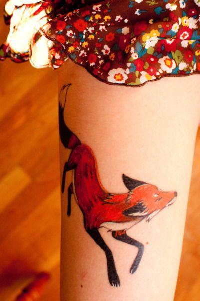 sweet little fox tattoo