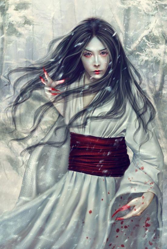 Yuki onna Japanese Snow Fairy Makeup Ideas Halloween Costumes