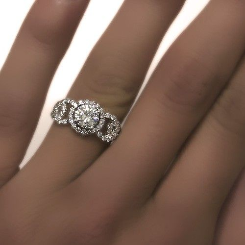 Unique Diamond Engagement Ring.
