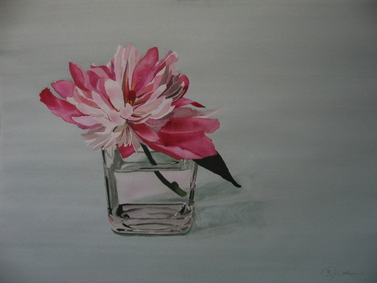 "Saatchi Online Artist: Brenda Malkinson; Watercolor, 2011, Painting ""Summer Peony 2011"""