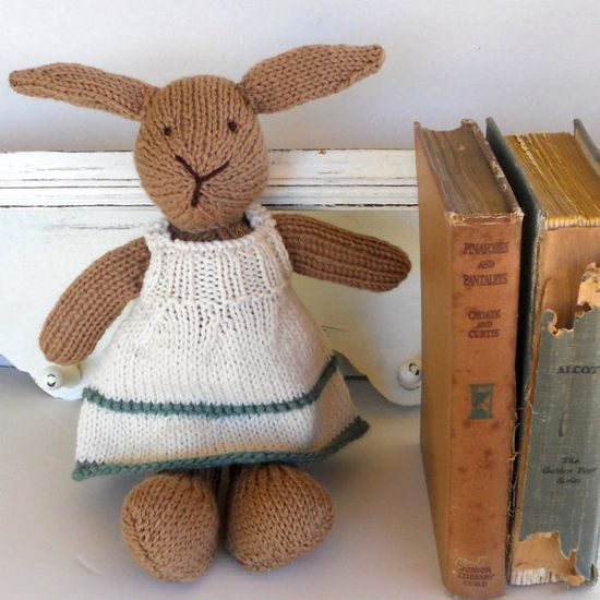 Natural Stuffed Animal Toy handKnit by Woolies CUSTOM by woolies, $68.00