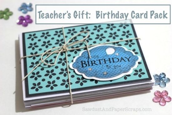 Teacher's Gift:  Handmade Birthday Card Pack