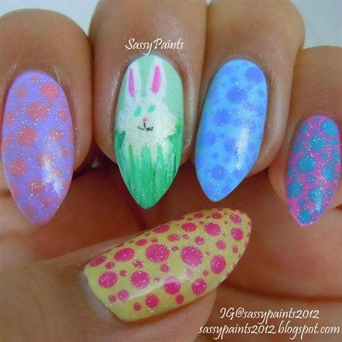 Easter Nail Art by SassyPaints - Nail Art Gallery nailartgallery.na... by Nails Magazine www.nailsmag.com #nailart