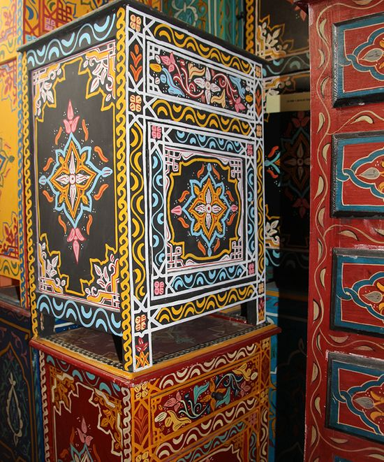 More maroccan painted furniture