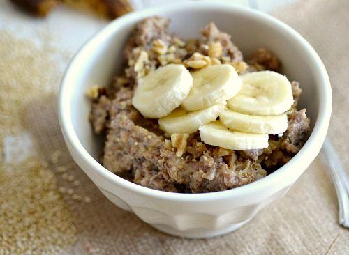 Crock Pot Banana Bread Quinoa  #quinoa #breakfast
