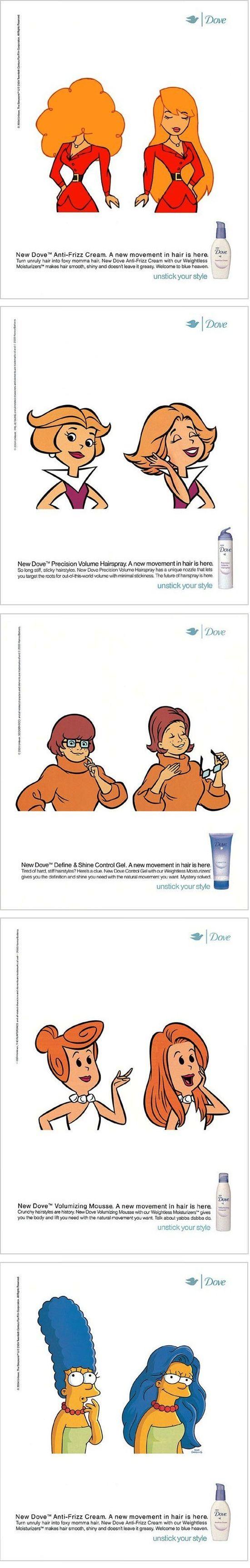 """Nice advertising """"Dove"""" repinned by www.BlickeDeeler.de"""