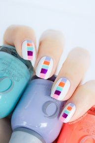 color tiles - nail design