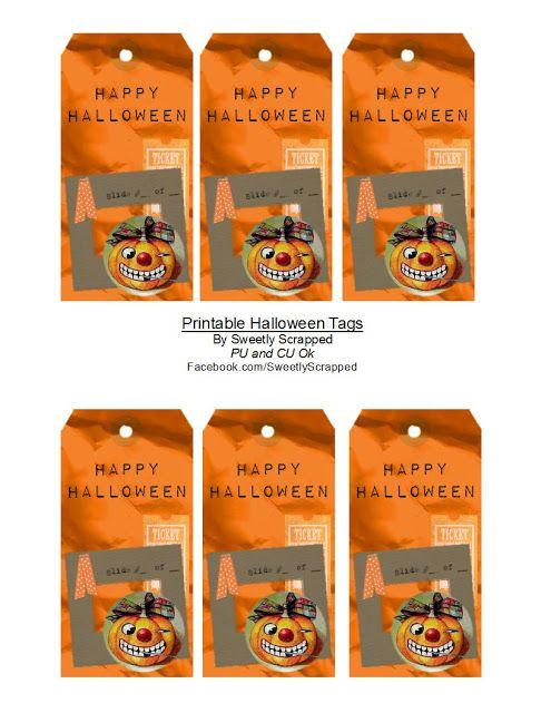 Fabulous Free printable Halloween Treat tags !