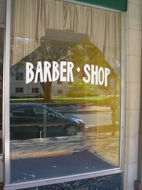 Barber Shop Typography Window Sign. #typography, #sign, #design
