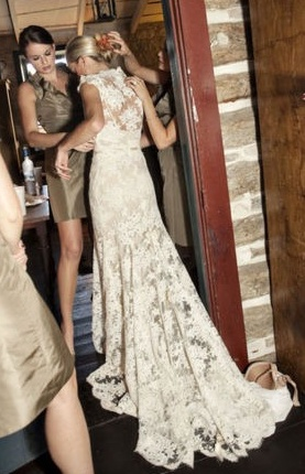Love the lace dress!