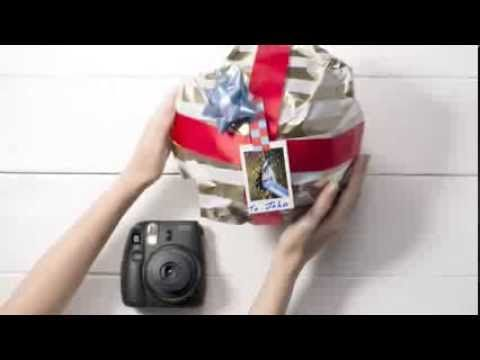 FUJIFILM INSTAX Instant Camera: Do It Yourself Photo Gift Tags - YouTube
