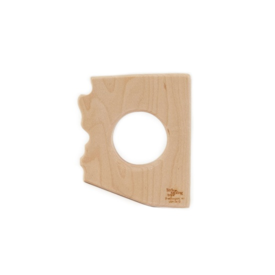 Baby Toy Arizona State wooden teether wooden by littlesaplingtoys