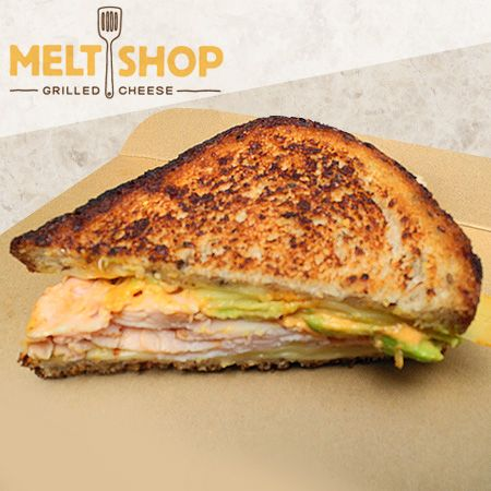 Avocado chicken grilled cheese