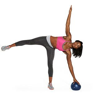 Work your abs, obliques, butt and legs in the Star Reach #exercise.