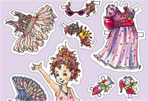 FREE Printable Paper Dolls {Fancy Nancy} #paper #dolls