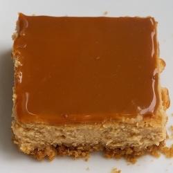 Dulce de Leche Cheesecake Bars by bakeorbreak