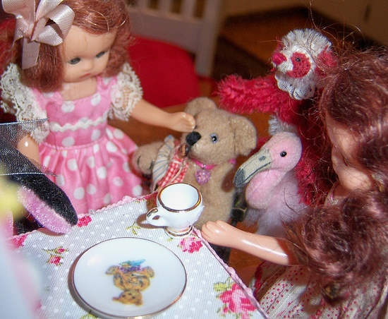 Tea party!!  Every tea party needs a flamingo.