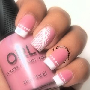 Pink #nail art #nails www.finditforwedd...