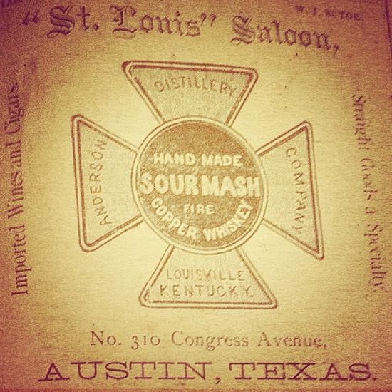 Sour mash copper whiskey hand made in Austin, TX. #typehunter #typeresearch