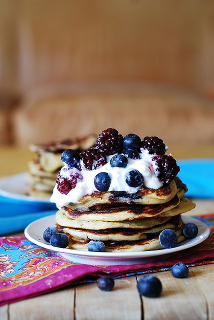 Greek yogurt pancakes by JuliasAlbum.com