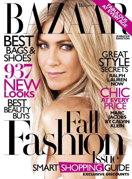 Jennifer Aniston, Bazaar. ? the hair style and color!