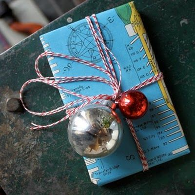Gift wrapping ideas ~ old maps.  I love old maps.