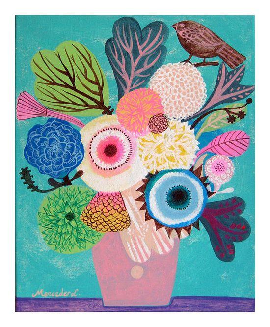 Flowers N.14 Print by @Katie Schmeltzer Schmeltzer Schmeltzer Cartwright Garden, $15.00 #illustration #print #flowers