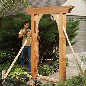 DIY Garden Arch (materials list/instructions)