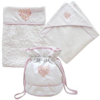 Newborn Baby Girl Bath Gift Set