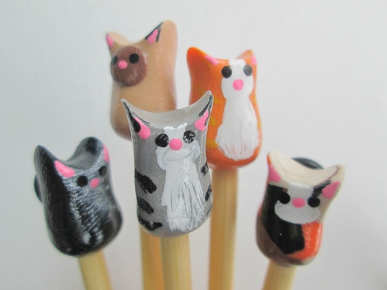 Let these kitties keep you company throughout your next knitting project! $10.00, via Etsy.