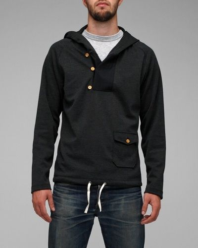 Brit 3 button hoodie: From Need Supply