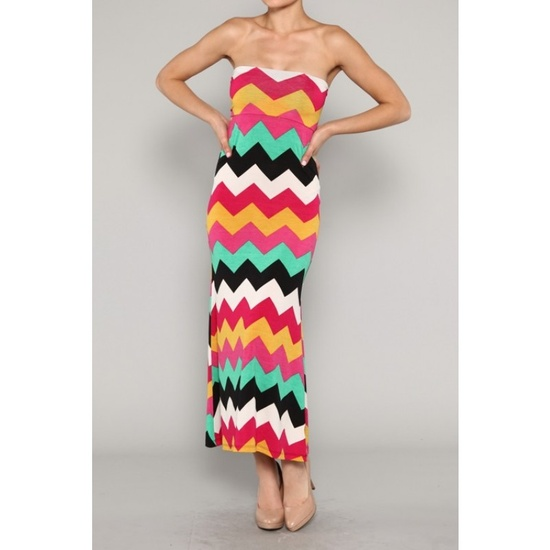 Super fun and colorful chevron skirt &/or maxi dress!!!