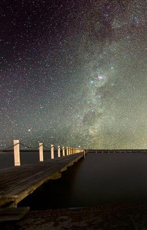 Pier & the stars.