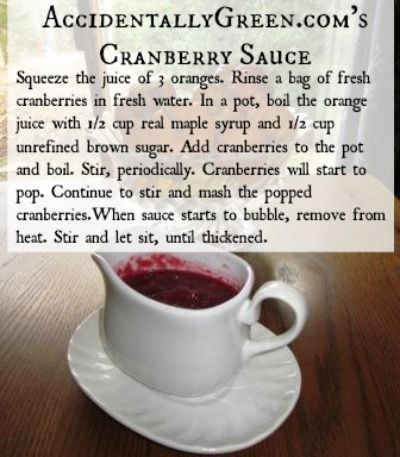 From-Scratch Cranberry Sauce  (Full recipe: www.accidentallyg...)