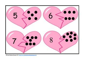 Kindergarten Valentine Love Math and Reading Centers $