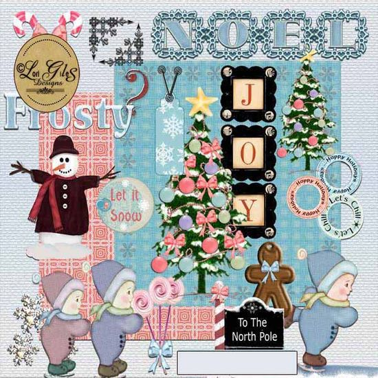 To the North Pole Kit - Digital Scrapbooking - : Vintage Nest Designs, Creative Handmade and Hand Painted Designs