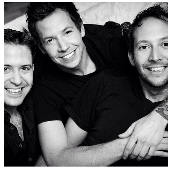 Pierre Bouvier (Simple Plan lead singer) with his brothers
