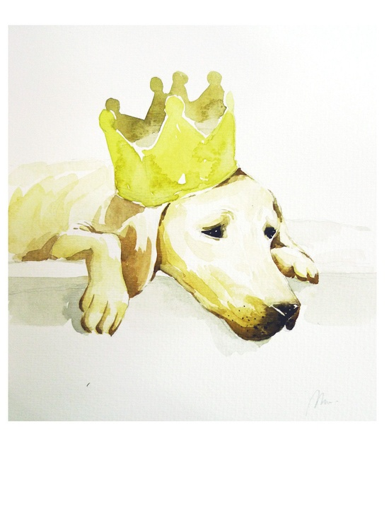 The lonely birthday Original Watercolor Painting by maggiepp