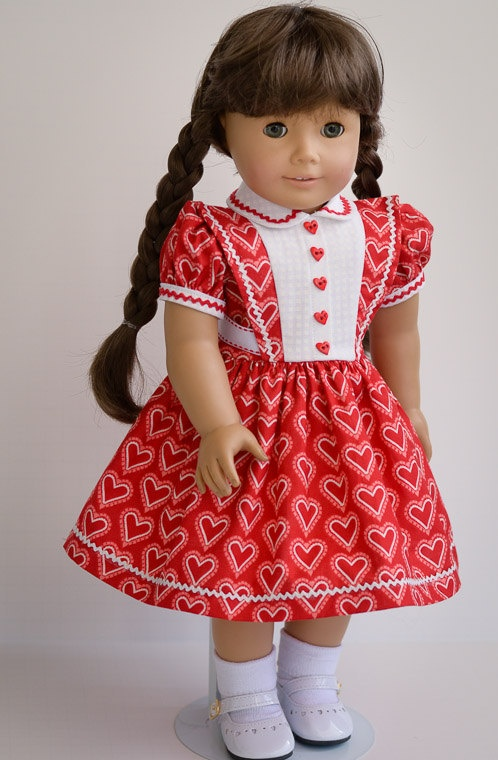 Valentine for Molly - American Girl. $45.00, via Etsy.