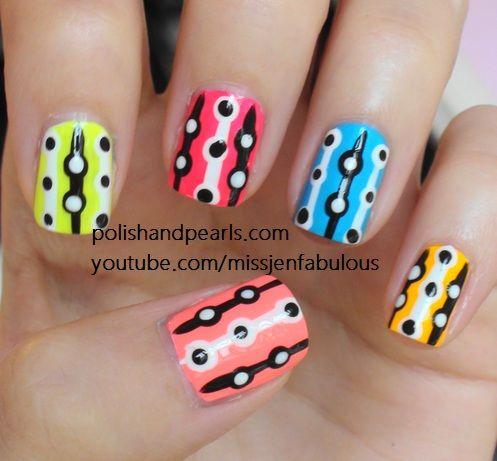 neon bubble nails