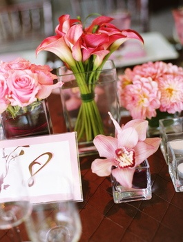 Flowers, Reception, Pink, Decor, Brown, Wedding, And